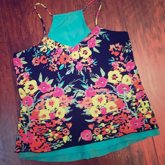 a633d9856ea5cf Candie's Tops | Floral Thin Strap Top | Poshmark
